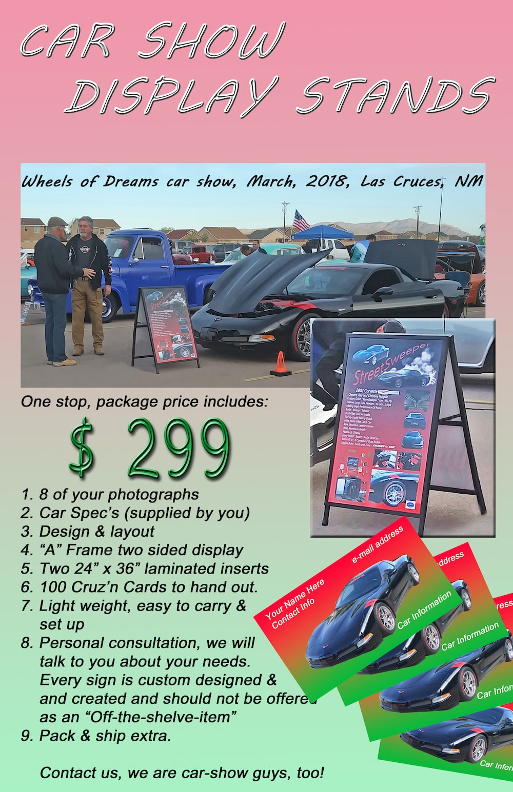 Car Show Displays - Car show display stand for sale
